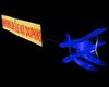Avion plage bleu