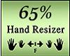 Hand 65%
