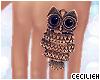 ! golden owl ring