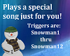 Snowman Maxi with song