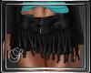 (SL) Black Fringe Skirt