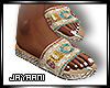Guccy Jeweled Slides