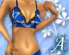 Blue Plaid Bikini Top