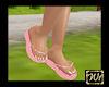 Pink flip flopps