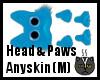 Anyskin Head & Paws (M)