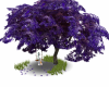 Purple Tree with Swing