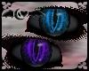 Purple & Aqua Black eyes