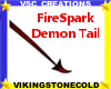 FireSpark Demon Tail
