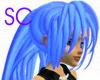 Neon Blue Tiger Hair