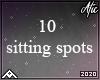 10 half circle sitting