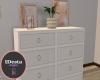 Peachy white dresser
