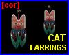[cor] Cat earrings