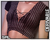 SAL | Lace Up Crop Top