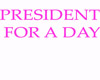 president for a day