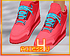 ! Red Retro Sneakers