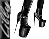 Blk Platform ankle boot