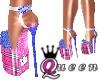 QUEEN Pink Plaid Heel
