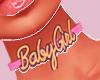 Baby Girl Choker Pinke