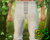 *G Trousers White