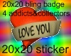 20x20 Bling Love You