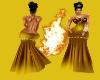(DD) Diamond gown yellow