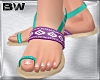 Purple Blue Sandals