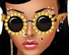Gold Pearl Glasses