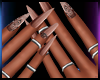 Rose Gold Nails+Rings 2