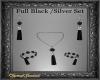 Blk/Silver Jewelry Set