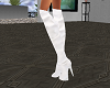 white knee boots