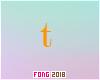 Fo. T Letter Orange