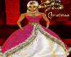 XMAS HOT PINK GOWN