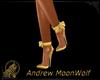 Dainty Bow Heels Gold