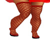 Red Fishnets and Shoe