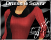 !S! Scarf Dress Red