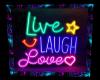 Neon Live Laugh Love