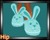 [H] Bunny Slippers-Teal