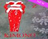 Kimono White n Red