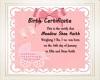 Birth Certificate 4 Shae