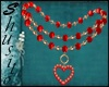 """"""".Valentin Red.""""Necklace"""