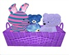 basket of toy pets