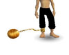 gold ball and chain