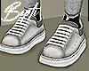 ! Gray Oversized Snkrs