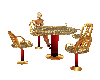 Laced w/Gold Club Table