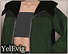[Y] Layerable green coat
