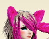 HOT PINK CAT EARS