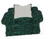 Green print chair