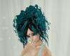 Aqua/Onyx Cascade Curls