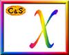 C&S Rainbow Letter X