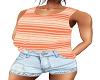 Peach Top w/ Shorts